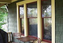 okna tarasowe ze sztukaterią