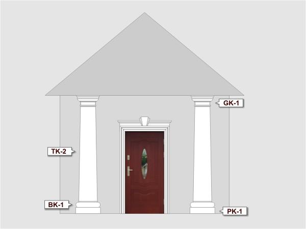 Podstawa kolumny elewacyjnej PK1/300 - Zestaw 1
