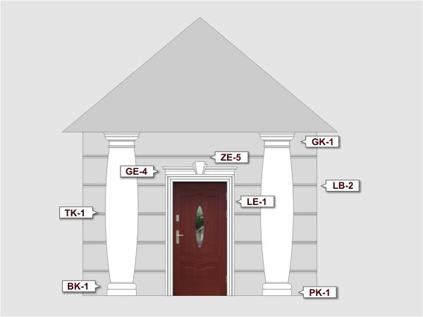 Listwa do boniowania LB-2A - Zestaw 1