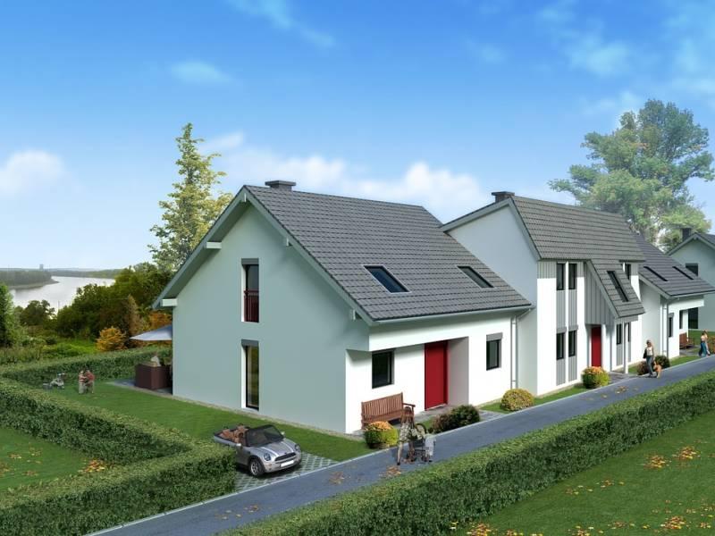 Wizualizacja elewacji domu jednorodzinnego ze zdjęcia - projekt elewacji