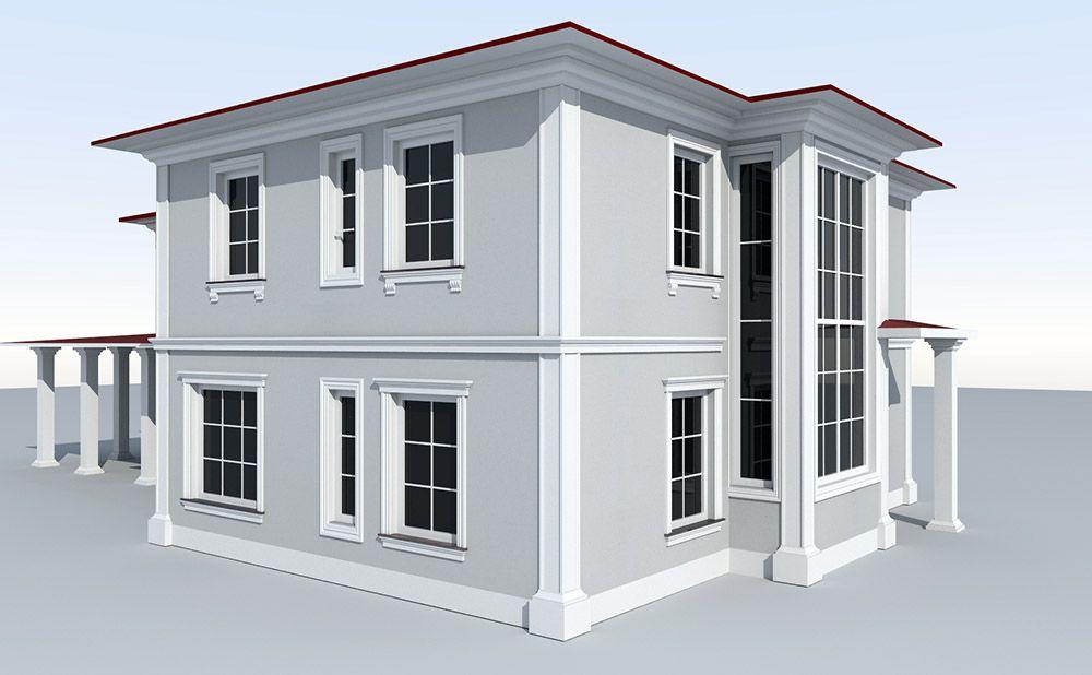 Projekt elewacji starego domu