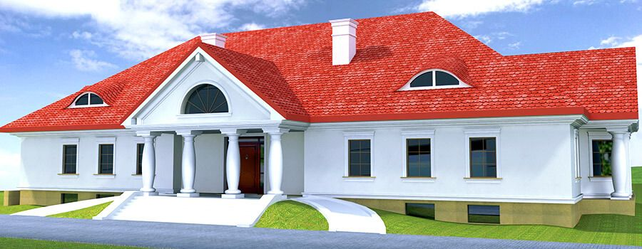 Projekt elewacji zewnętrznej domu