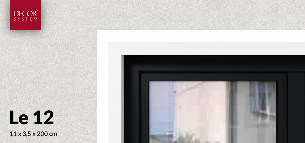 Listwa elewacyjna wokół okienna LE12 Decor System