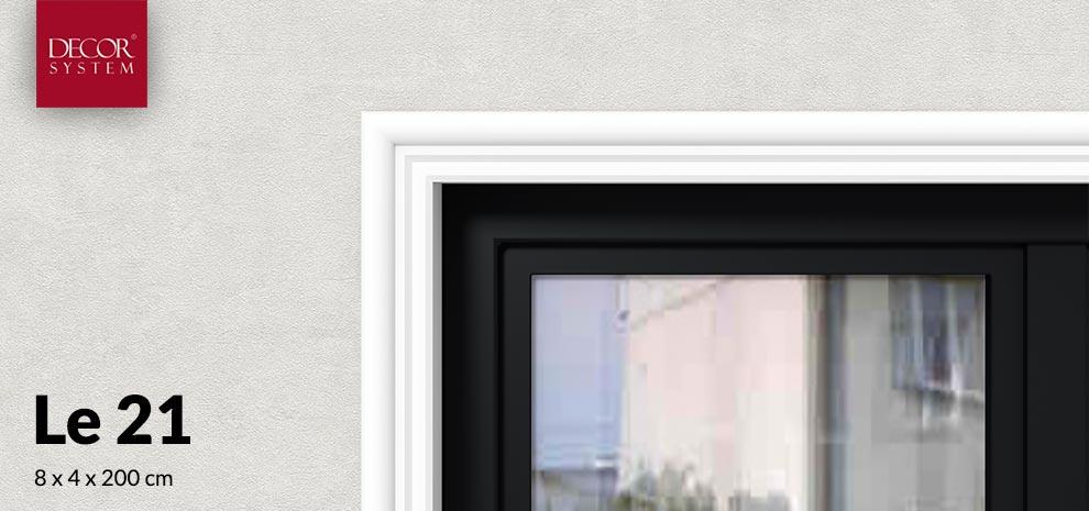 Niska listwa wokół okienna Le21