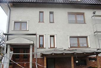Ramy okienne ze wspornikami i zwornikami 1