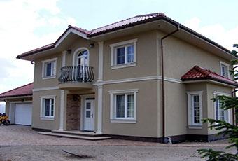 Elegancka fasada z pilastrami elewacyjnymi 9