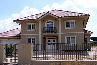 Elegancka fasada z pilastrami elewacyjnymi 14