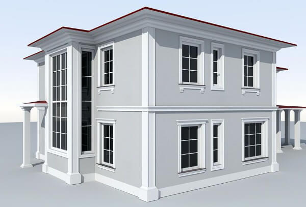 Projekt elewacji domu