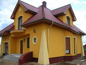 Kolory elewacji domów jednorodzinnych galeria