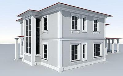 Wizualizacja elewacji domu